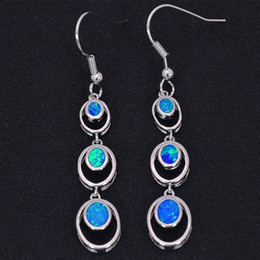 Wholesale & Retail Fashion Blue White Pink Red Fine Fire Opal Earrings 925 Silver Plated Jewelry For Women EJL16030801