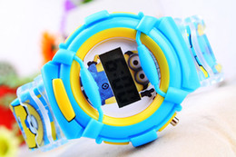 Kids sports watch LED Digital display movement watch rubber DISPICABLE ME style students watch 1pc xwt060