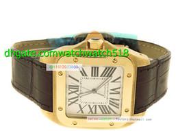 Luxury Top quality Sapphire 43mm 100 W20071Y1 18k Yellow Gold Automatic Watch New Watch Wristwatch