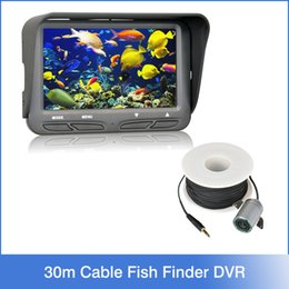 Wholesale 720P Underwater Ice Video Fishing Camera inch LCD Monitor LED Night Vision Camera m Cable Visual Fish Finder Waterproof