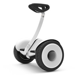 Wholesale FREE Xiaomi Ninebot Self balancing Scooter mini Car km h km Two Unicycle Wheels Smart System Phone APP Alloy body LED Lights