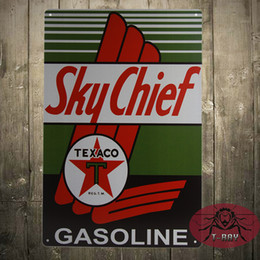 Wholesale Vintage Texaco Sky Chief Sign PETROX Porcelain Supreme Gasoline Gas Station