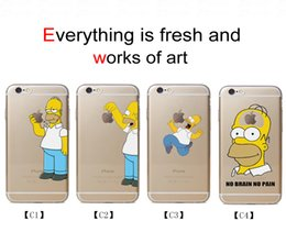 Wholesale Cartoon Simpson Phone Cases Lovely Transparent Phone Covers Anti knock Best Hard PC Cases for Iphone S Splus C2