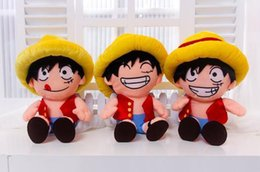 Wholesale new One Piece Plush Kid Toys Monkey D Luffy Soft Stuffed Cloth Doll Japanese Anime Movie Plush Toys