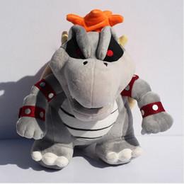 "2015 Super Mario plush toy Gray King Bowser Koopa Stuffed Plush Toys With Tag 9""23cm Retail"