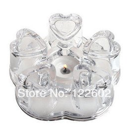 Wholesale Glass teapot textured glass heart shaped crystal pedestal base heating base teapot warm tea warm tea