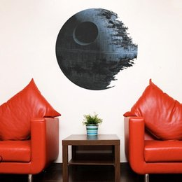 Wholesale Top Star Wars Style D Wall Stickers Removable Children s Bedroom Living Room Wallpaper Green Living Water cm