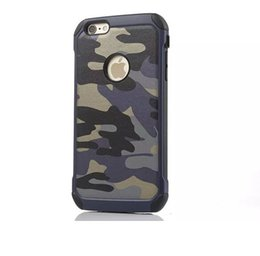 Wholesale Retro Fashion Military Camouflage Case Navy Army Camo Hard Plastic Cover Soft TPU Armor Case for iPhone S plus