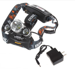 2016 Wholesale 5000lm CREE XML T6+2R5 LED Headlight Headlamp Head Lamp Light Flashlight 18650 Torch Camping Fishing Rechargeable Lantern