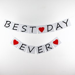 Wholesale-Paper Wedding Banners- Best Day Ever -Wedding Photo Prop Card Bunting -Personality Wedding Sign - Vintage Party Decoration