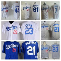 Wholesale 2015 New Los Angeles Dodgers Jerseys James Loney Zack Greinke Aaron Harang Kirk Gibson Josh Beckett Baseball Jersey
