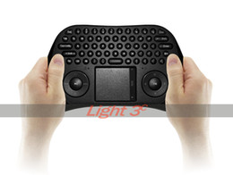 Wholesale-2.4G Wireless Air Mouse Mini Keyboard Touchpad Combo Remote Controller for Android TV Box Mini-PC