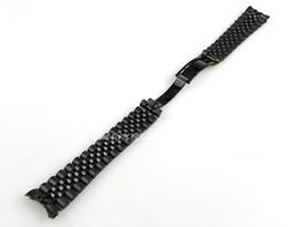 Descuento bandas de acero inoxidable enlaces Al por mayor-Nueva 20mm Grado superior sólido puro de bandas de acero inoxidable 316L Negro plateado 5 Enlaces Las pulseras de extremo curvo utiliza para S23