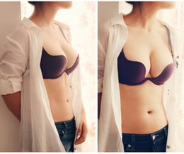 Wholesale ABCD Big Cup Deep U Low Cut Backless Invisible Convertible Bra That Is For Backless Cloth Very Comfortable and Functionality