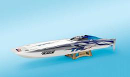 Wholesale Genesis Catamaran Racing Boat Electric Brushless RC Boat Fiberglass with brushless motor KV2075 A ESC with BEC
