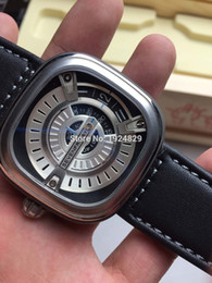 Wholesale Fashion Switzerland Brand watch Seven Friday M1 V6F Best Edition RG Dial on Black Leather Strap Miyota S7