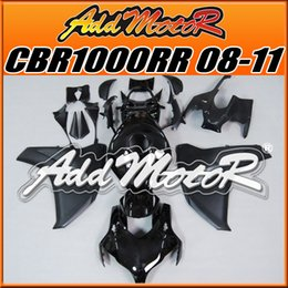Wholesale Addmotor Injection Mold Aftermarket Fairings Fit Honda CBR1000RR CBR RR Body Kit Glossy Black H1809 Five Free Gifts