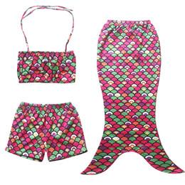 Wholesale New Baby Girls Bikini Fashion Girl Swimsuit Mermaid Tails For Swimming Yrs Swimwear Girls Swimsuit Kids Bathing Suits
