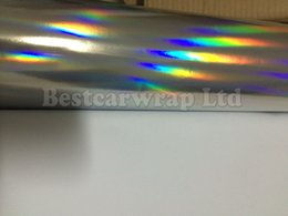 Wholesale Chrome Holographic Laser Vinyl Film For car wrapping with air free x20m Roll