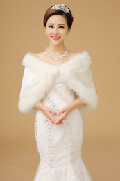 Winter Fur Cheap Bridal Wrap For Bride In Stock Real Picture made in china thic Women Shawl Wedding Accessories 2016