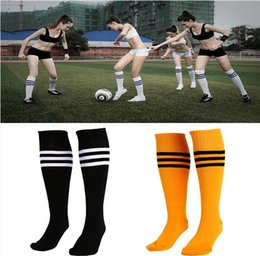 Wholesale New Arrivals Men Women Adults Sports Socks Football Striped Long Socks Knee High Cotton Spandex PX251