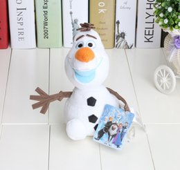 Wholesale 8 quot cm New cartoon movie Frozen Lovely OLAF plush toys the Snowman Plush Doll Stuffed Toy
