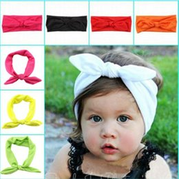Wholesale Children Cute Hair Headbands Infant Rabbit Ear Bands Beautiful Cheap Bunny Wave Stripe Newborn Hair Accessories Hot Sale