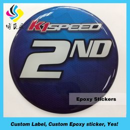 Top quality cheap custom factory made hot selling customize black dome 3d epoxy sticker