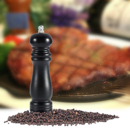 2015 new hot Free Shipping Pepper Mill Vintage Manual Wooden Pepper Spice Salt Grinder Mill tinyaa