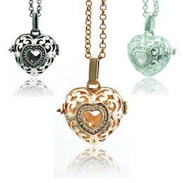 Wholesale Fashion Angel Necklace Baby Chime Harmony Balls Color Crystal Heart Pendants Statement Necklace For Women Jewelry