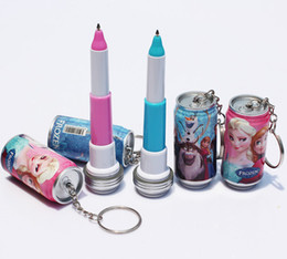 Wholesale Cheap Frozen Cola pen Ice and snow princess Animated cartoon of coke Keychain
