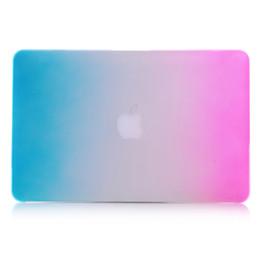 2017 macbook shell 13 Rainbow Matte Hard Shell cas pour ordinateur portable Full Body Protector Housse pour Apple Macbook Air Pro 11 '' 12 '' 13