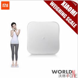 Wholesale 2015 New Original Xiaomi Mi Smart Weighing Scale Xiaomi Scale Xiaomi Weigh Scale Support Android iOS7 Abovebluetooth