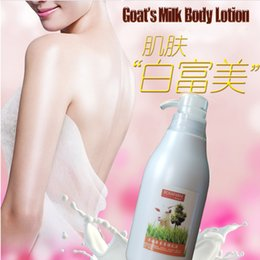 Wholesale 450ml organic lightening Moisturizing nourishing goat milk fairness body lotion milky skin Moisturizing
