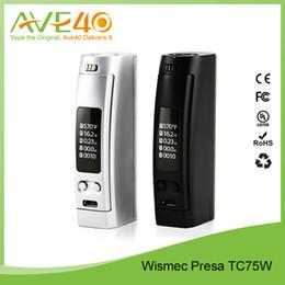 Wismec Presa TC75W Temp Control Box Mod VS WISMEC Reuleaux RX200 200W TC Express Kit DHL Free Shipping