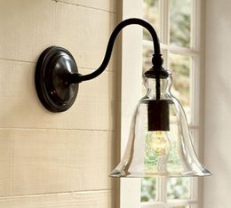 Wholesale New Antique Vintage Style Glass Shade Wall lamp for home LD56
