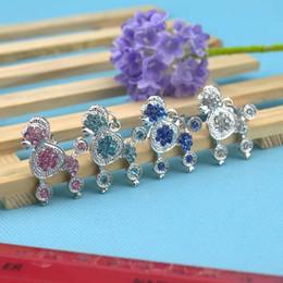 Wholesale 4 Color L Size Poodle Shape Pet Dog Cat Tag ID Czech Diamond Pet Pendant Fashion Hotsale Fit Pet Collar Necklace Key Phone Pendant