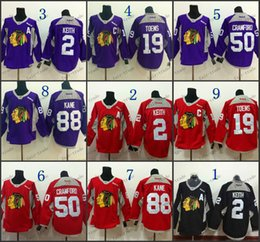 Wholesale Chicago Blackhawks Practice Janathan Toews Patrick Kane Corey Crawford Training Black Red Purple Stitched Cheap Hockey Jerseys