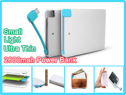 Powr bank 2600mah Charger for mobile phone 2600 mah Ultra thin external battery emergency charger promotion powerbank for mobile phone