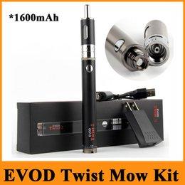Torsion ii en Ligne-Evod Kit Twist II E Cig Kit 1600mAh Evod Twist II Batterie E-tondre atomiseur énorme Kit Cigarette Vaporisateur Kit E Livraison rapide