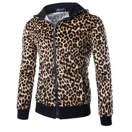 Wholesale Fashion Autumn Winter Leopard Printed Jacket For Men Outerwear Sportswear Hooded Stylish Mens Jackets And Coats Hip Hop Street