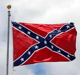 Wholesale Confederate States Rebel Flags Civil War Southern South Battle Dixie Flag National Polyester Flags cm Free DHL UPS Fedex Factory