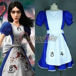 Wholesale Custom made Alice Madness Returns Alice Cosplay Costume fancy Dress Costume high quality factory directly sale
