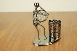 Wholesale music band metal pen stand antique metal pen holder creative hot sale gifts