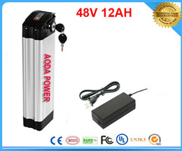 high quality real capacity lithium battery 48V 12AH electric bike li ion battery with BMS ,charger