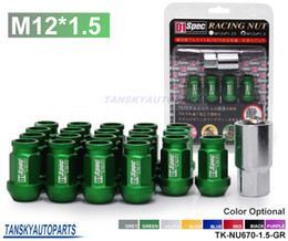 Wholesale Tansky GREEN For HONDA ACURA CIVIC INTEGRA JDM D1Spec Racing Wheel Lug Nuts M12 X1 MM With Lock TK NU670 GR