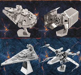 Wholesale Free DHL DIY D Models Star wars ATAT Tie Fighter Kits Metallic Nano Puzzle no glue required For adult and kids Chirstmas gift
