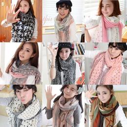 Hot Fashion Women Long Print Cotton Scarf Wrap Ladies Shawl Girls Large Scarves Wholesale Free Shipping