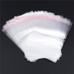 2016 New E4 Clear Resealable Cellophane BOPP Poly Bags 13x20cm Transparent Opp Bag Packing Plastic Bags Self Adhesive Seal