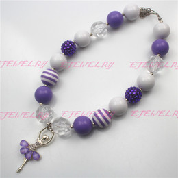 New Style, Purple Ballet Girl Wholesale Girls Bubblegum Chunky Necklace statement necklaces CB497